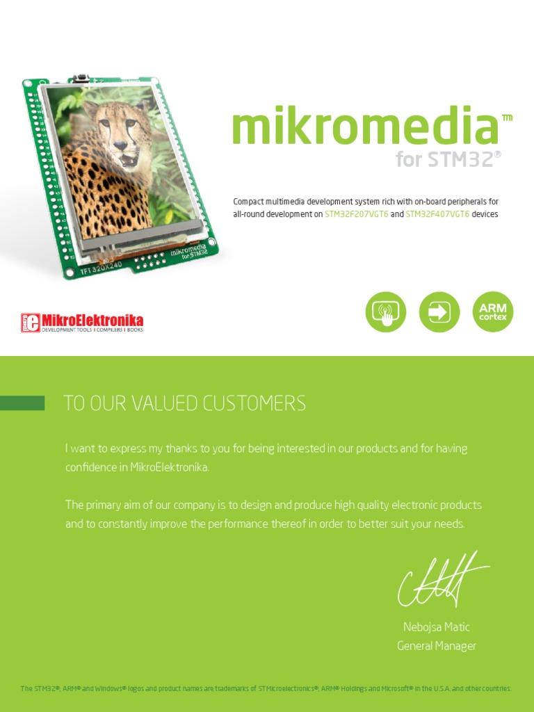 Mikromedia Stm32 Manual | Microcontroller | Digital Electronics