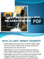 Light Weight Foamed Concrete
