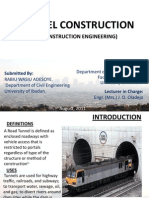 """Power Point Presentation on """"The Construction of Tunnels"""""""