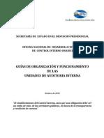 ONADICI Guia de Organizacin y Funcionamiento de La UAI