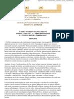Dichiarazione sulla Libertà Religiosa - Dignitatis Humanae