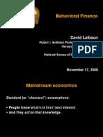 Behavioral Finance Laibson