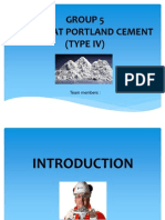 Low Heat Portland Cement