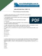 Folha Dirigida - Questões de direito penal SEAP-RJ