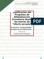 Justificación del Programa de Alfabetización Económica desde las teorías de