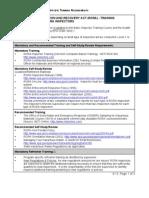 Training Requirements for RCRA Inspectors