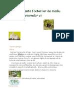 Influenta Factorilor de Mediu Asupra Organismelor Vii