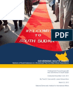 Focus Group Governing South Sudan