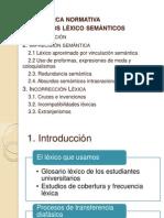 Presentación aspectos léxico-semánticos