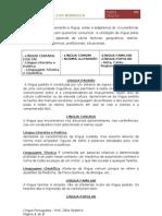 Ficha informativa - Registos de Língua