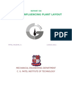 FACTORS INFLUENCING PLANT LAYOUT