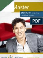 Tilburg University- Holland- Brochure of Master Programs