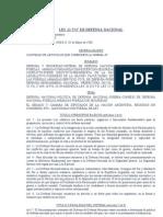 LEY 23554 de Defensa Nacional