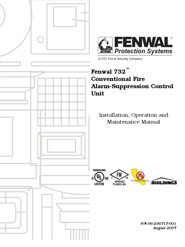 Fenwal 732™ Conventional Fire Alarm-Suppression Control Unit | Relay ...