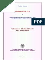 Teachers Manual Diploma Hydroplants