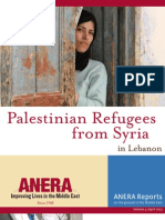Palestinian Refugees From Syria in Lebanon