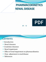 Altered Pharmaco kinetics in Renal Disease