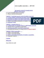 Structura Proiect Comert International