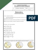 Lista de Matemática 7º ano Racionais