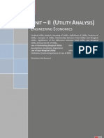 Utility Analysis - Engineering Economics