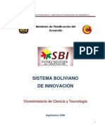 Sistema Boliviano de Innovación