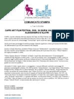 Comunicato Stampa - Giuria Capri Art Film Festival