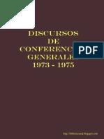 Discursos de Conferencias Generales 1973 1975