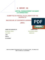 WORKING CAPITAL MANAGEMENT IN DAIRY CO-OPERATIVE