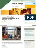 Strahlenfolter - TI V2K - Brussels TI Meeting & Demonstration - Oguz Icsoz - Targetedindividualseurope