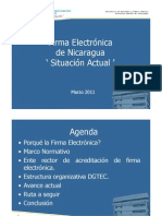 Presentacion Firma Electronica Nicaragua