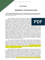 Panesi, Jorge - Walter Benjamin y La Deconstruccion