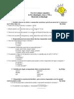 0 10 Test de Evaluare Sumativa