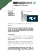 PLAN DE CAPACITACIÓN 2013