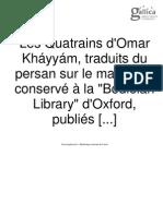 Les Quatrains d'Omar Kháyyám