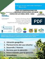 Compensación por servicios ambientales, microcuenca los Micos, Cuenca Ceibas, Neiva