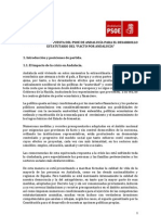 Propuestas PSOE Andalucía Desarrollo Estatutario