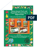 Principles of Harvest Handling,Storage and Processing of Fruits and Vegetables