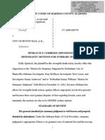Spurlock Reply Summary Judgment