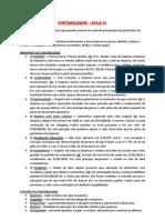 Contabilidade - AULA 01 - Princípios