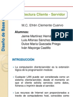 Arquitectura Cliente - Servidor