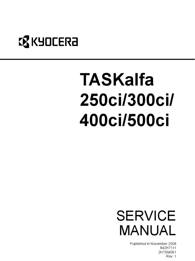 10969742-Kyocera Taskalfa 250ci 300ci 400c I500ci Service Manual | Image  Scanner | Compact Cassette