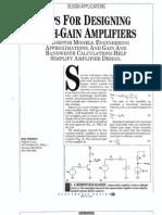 High Gain Amplifiers