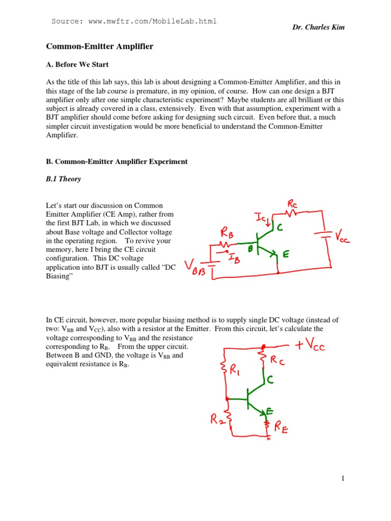CEamp Theory | Amplifier | Capacitor