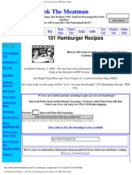 101 Hamburger Recipes Webpage