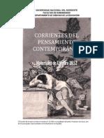 Libro Corrientes Del Pensamiento Contemporaneo