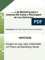 apresentação final do TCC - Plano de Marketing verde