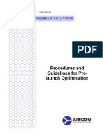 Procedures and Guidelines for Pre-Launch Optimisation_DT