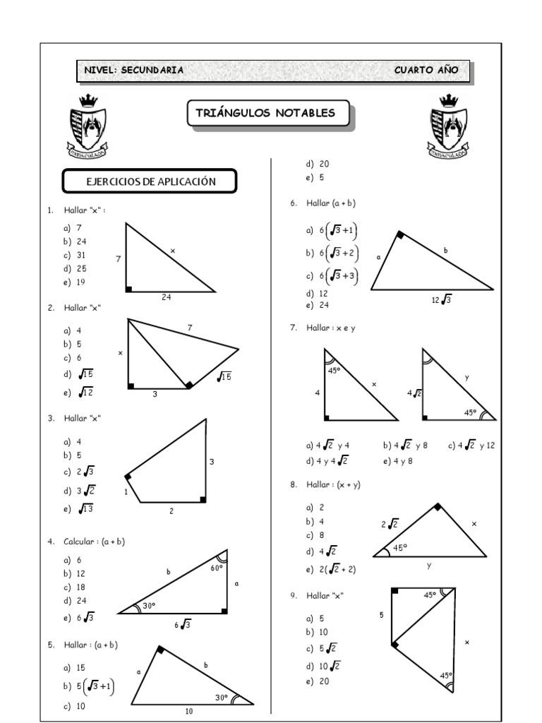 TRIÁNGULOS NOTABLES- PROBLEMAS SELECTOS (1).pdf - photo#24