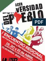 Cronograma 1er Encuentro Regional de Formación y Participación Estudiantil