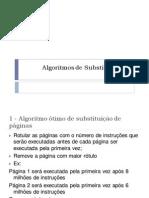 Algoritmos de Substituição de Páginas
